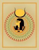 Ägyptische Verzierung und Pharao Stockbilder