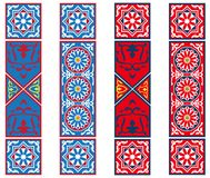 Ägyptische Zelt-Gewebe-Fahnen Stockfotos