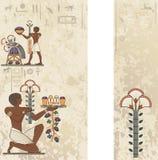 Ägyptischer alter Symbolhintergrund Stockfoto