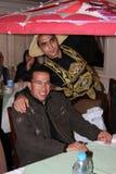 Ägyptischer Entertainer mit großem Hut Stockbilder