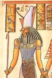 Ägyptischer Gott Horus stockfotografie