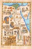 Ägyptischer Gott Horus mit Königin Kleopatra stockfoto