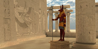 Ägyptischer Gott Seth lizenzfreie abbildung