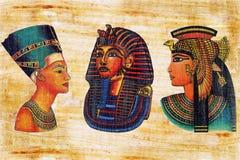 Ägyptischer Papyrus. Lizenzfreies Stockfoto