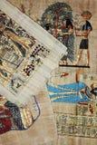 Ägyptischer Papyrushintergrund Lizenzfreie Stockfotos