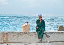 Ägyptischer Straßenhändler Stockfotografie