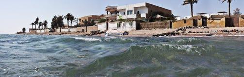Ägyptischer Strandurlaubsort Stockbild