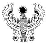 Ägyptisches altes Gestaltungselement Stockfotografie