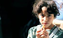 Ägyptisches armes Mädchen Stockbild