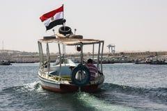 Ägyptisches Boot auf dem Nil lizenzfreie stockbilder