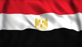 Ägyptisches fahnenschwenkendes im Wind stock abbildung