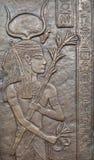 Ägyptisches Flachrelief. Lizenzfreie Stockbilder
