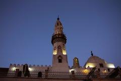 Ägyptisches Gebäude am Abend stockfotografie