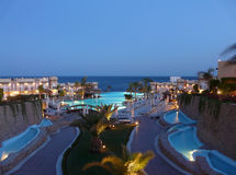 Ägyptisches Hotel Stockbild