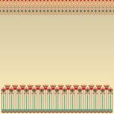 Ägyptisches Muster mit runden Elementen Lizenzfreies Stockfoto