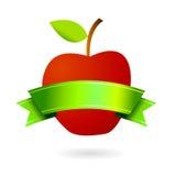 äkta etikettlogo för frukt Royaltyfri Fotografi