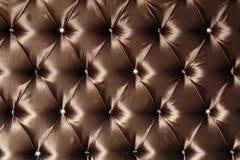 äkta läderupholstery Arkivbild