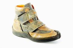 äktaa läderskor för attraktiva kängor Royaltyfri Bild