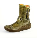 äktaa läderskor för attraktiva kängor Arkivfoto