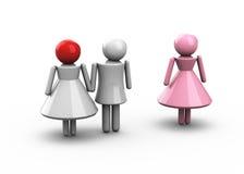 Äktenskaplig otrohet vektor illustrationer