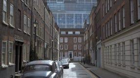 Äldre gata, Spitalfields, London royaltyfria foton