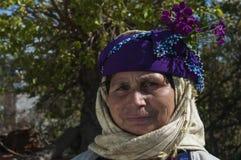 Äldre kvinna i Turkiet Arkivbild