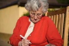 äldre lady Royaltyfri Foto