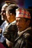 Äldre man av Katmandu, Nepal Royaltyfri Foto