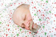 Äldre sova för man arkivfoto