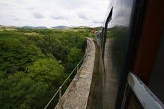 äldst järnväg romanian sikt royaltyfria foton