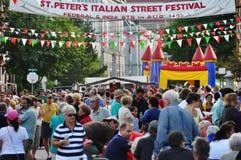äldst portland s för festival gata Arkivbild