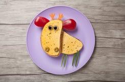 Älg som göras av bröd och ost Arkivfoto