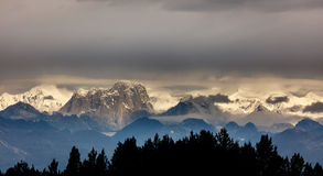 Älgtandmaximum i Alaska bergskedja Royaltyfri Fotografi