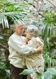 Älska äldre par Royaltyfri Bild