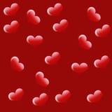 Älska bakgrund med hjärtor stock illustrationer