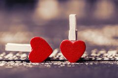 Älska begreppet för dag för moder` s och dag för valentin` s valentin Förälskelse valentin för dagvykort s Lyckliga hjärtor för d Arkivbild