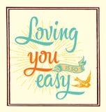 Älska dig Vektor Illustrationer