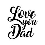 Älska dig farsan Illustrationer för vektor för dag för fader` s Fotografering för Bildbyråer