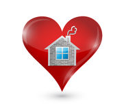 Älska din hem- illustrationdesign Arkivbild