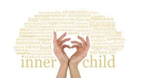 Älska ditt inre barn royaltyfri foto