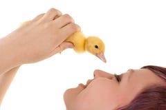 Älska en easter duckling Arkivbilder