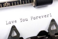 älska för alltid dig Arkivfoto