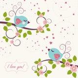 älska för fåglar royaltyfri illustrationer
