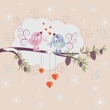 älska för fåglar stock illustrationer