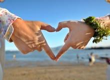älska för hjärta Fotografering för Bildbyråer
