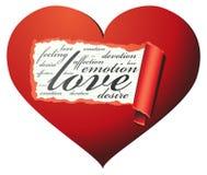 älska för hjärtainsidalook Royaltyfria Bilder