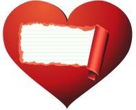 älska för hjärtainsidalook Royaltyfri Bild