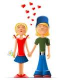 älska för pojkeflicka Vektor Illustrationer