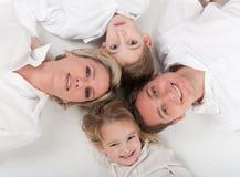 Älska familjcirkel Fotografering för Bildbyråer