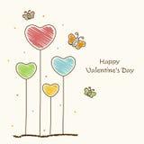 Älska hälsningkortet för lycklig valentins dagberöm Arkivbild